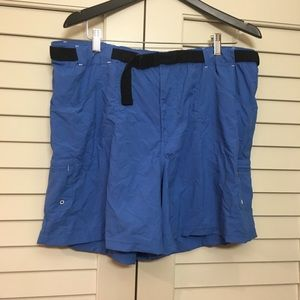 Size XL Men's Columbia Blue Hiking Fishing Shorts